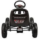 Детский педальный карт надувные колеса Bambi M 0645-2 черный, фото 2