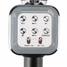 Ручной микрофон караоке для пения, беспроводный с динамиком (Bluetooth) WS-1818 черный (Реальные фото), фото 2