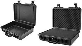 Противоударный защитный пластиковый кейс для оборудования с поролоновым наполнителем 470x340x230 мм