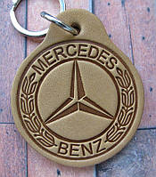 Автобрелок з шкіри Mercedes Мерседес брелок для ключів, фото 1