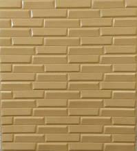 Самоклеючі декоративні 3D панелі під цеглу вузький бежевий 700х770х8мм.Декоративна 3д панель під цеглу