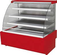 Кондитерская холодильная витрина JAMAJKA 1.3 (W) OPEN (открытая спереди)