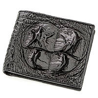 Бумажник мужской CROCODILE LEATHER 18582 из натуральной кожи крокодила Черный, фото 1