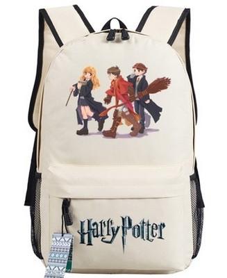 Рюкзак Гарри Поттер Хогвартс (Harry Potter) бежевый.