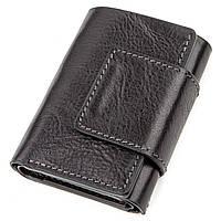 Строгое портмоне унисекс из гладкой кожи GRANDE PELLE 11152 Черное, Черный, фото 1