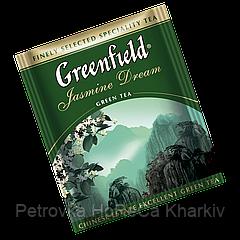 """Чай  зеленый в пактиках  Greenfield """"Jasmine Dream"""" 100шт  Зеленый с Жасмином"""