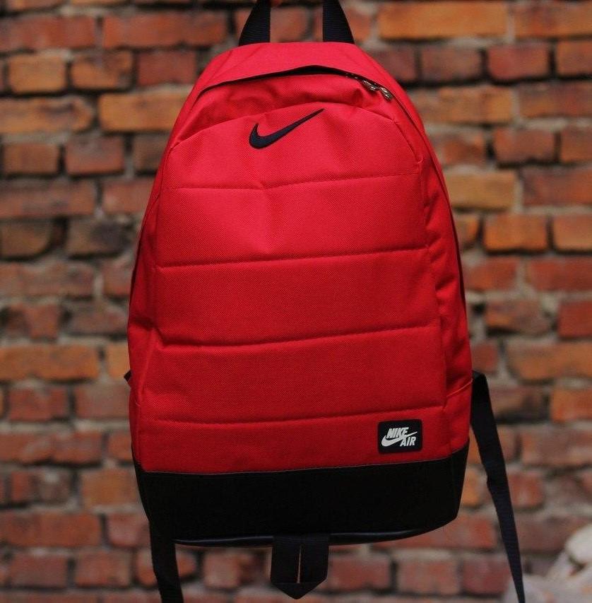 Городской, спортивный, не промокаемый рюкзак Nike Air 20л - Красный - Реплика