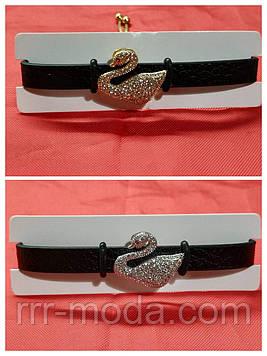 Черный кожаный браслет напульсник. Браслеты кожаные для женщин оптом 1151