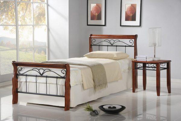 Кровать VERONICA 90 вишня Halmar