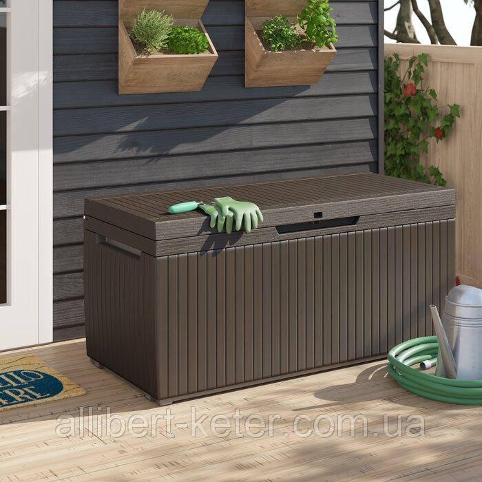Садовий стінна шафа, скриня для зберігання Keter Springwood Storage Box 305 L