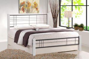 Ліжко VIERA 160 білий/чорний Halmar