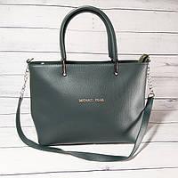 Женская сумка Mісhаеl Коrs, в стиле Майкл Корс MK, зеленая ( код: IBG193G )