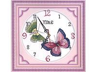 """Набор для вышивания под часы """"Бабочки"""" 36*36 см"""