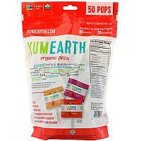 Органические леденцы на палочке YumEarth, ассорти, 50 штук в упаковке