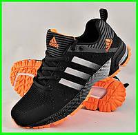 Кроссовки Adidas Fast Marathon Чёрные Мужские Адидас (размеры: 41,42,43,44,45,46) Видео Обзор