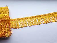 Бахрома декоративна шовкова. Жовта насичена 5 см.  (БД 0108)