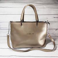 Женская сумка Mісhаеl Коrs, в стиле Майкл Корс MK, золотистая ( код: IBG193Y )