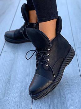 Ботинки женские Евро-Мех 8 пар в ящике черного цвета 36-40
