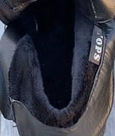 Ботинки женские Евро-Мех 8 пар в ящике черного цвета 36-40, фото 5