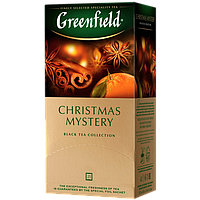 "Чай черный в пакетиках Greenfield  ""Christmas Mystery""  25шт Корица"