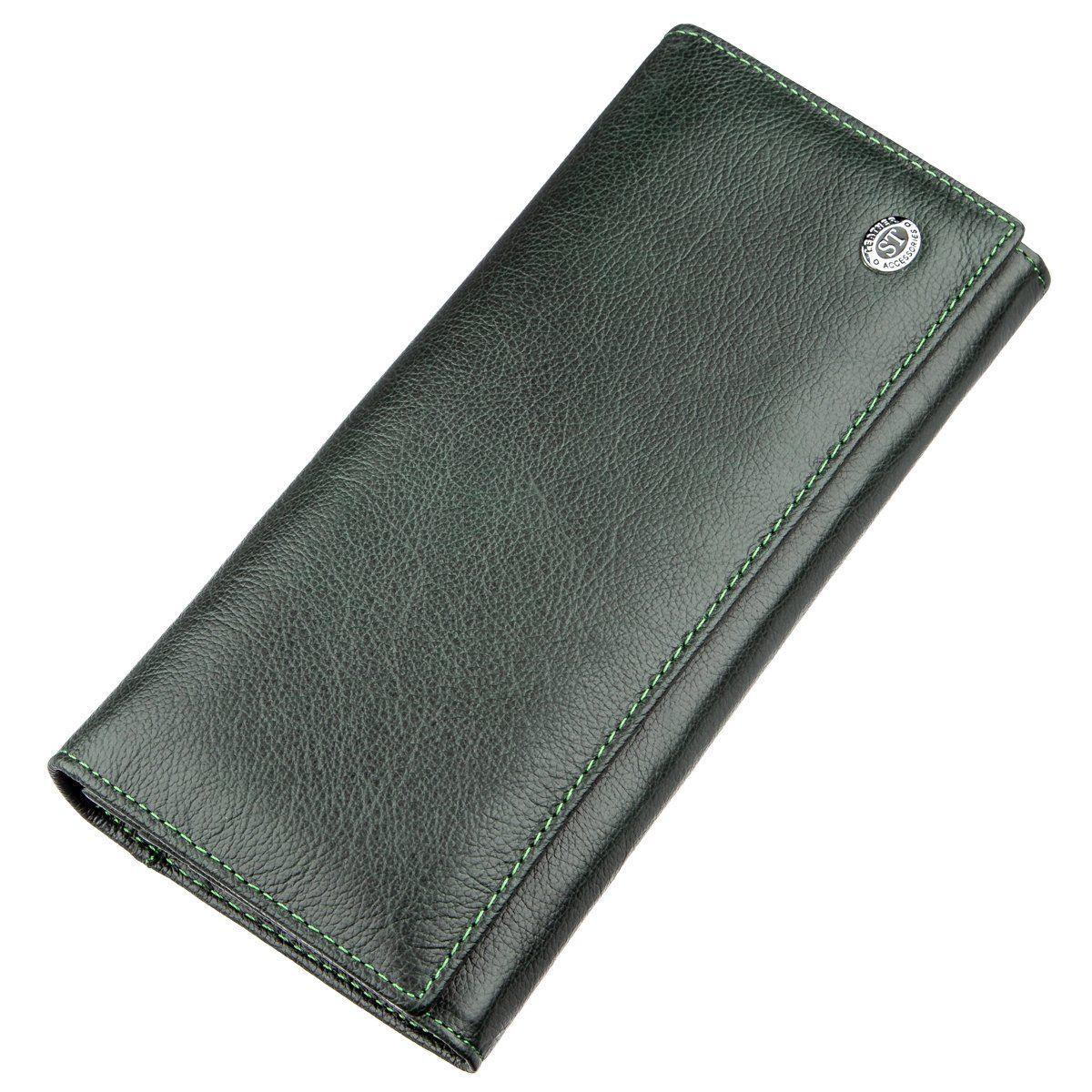 Кошелек для женщин с внешним отделением ST Leather 18900 Зеленый