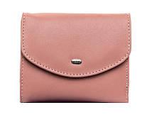 Женский кожаный кошелек 12*10*2,5 розовый, фото 1
