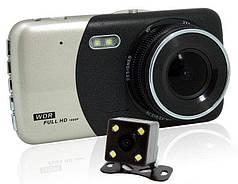 Автомобильный видеорегистратор DVR CT503 HD 1080P 4'' с двумя камерами