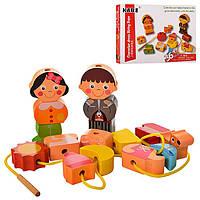 Деревянная игрушка Шнуровка