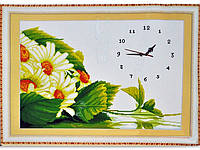 """Набор для вышивания под часы """"Ромашки"""" 66*49 см"""