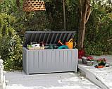 Садовий стінна шафа, скриня для зберігання Keter Novel Storage Box 340 L, фото 2