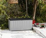 Садовий стінна шафа, скриня для зберігання Keter Novel Storage Box 340 L, фото 4