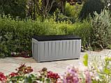 Садовий стінна шафа, скриня для зберігання Keter Novel Storage Box 340 L, фото 5