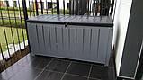 Садовий стінна шафа, скриня для зберігання Keter Novel Storage Box 340 L, фото 8