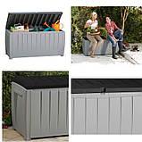 Садовий стінна шафа, скриня для зберігання Keter Novel Storage Box 340 L, фото 9