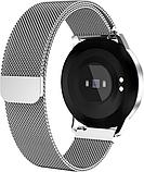 Розумний фітнес браслет трекер з великим дисплеєм Lemfo CF18 з вимірюванням тиску сріблястий, фото 5