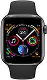 Розумні смарт годинник IWO 8 Special Edition з алюмінієвим корпусом і магнітної зарядкою чорні, фото 2