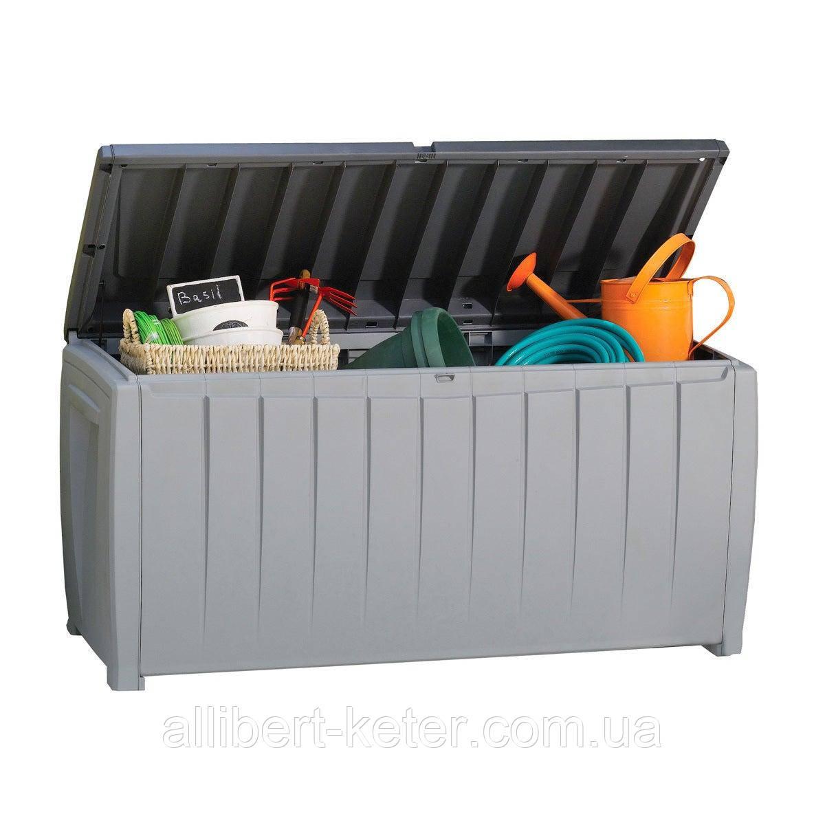 Садовий стінна шафа, скриня для зберігання Keter Novel Storage Box 340 L