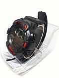 Часы электронные в пластиковой колбе Gasan с красными вставками, фото 2