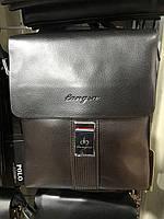 Чоловіча сумка через плече від фірми Langsa шкіряний клапан опт/роздріб