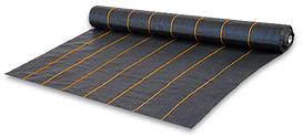 Агроткань от сорняков. черная UV, 90 гр/м² размер 3.2м*100м, для клубники с разметкой