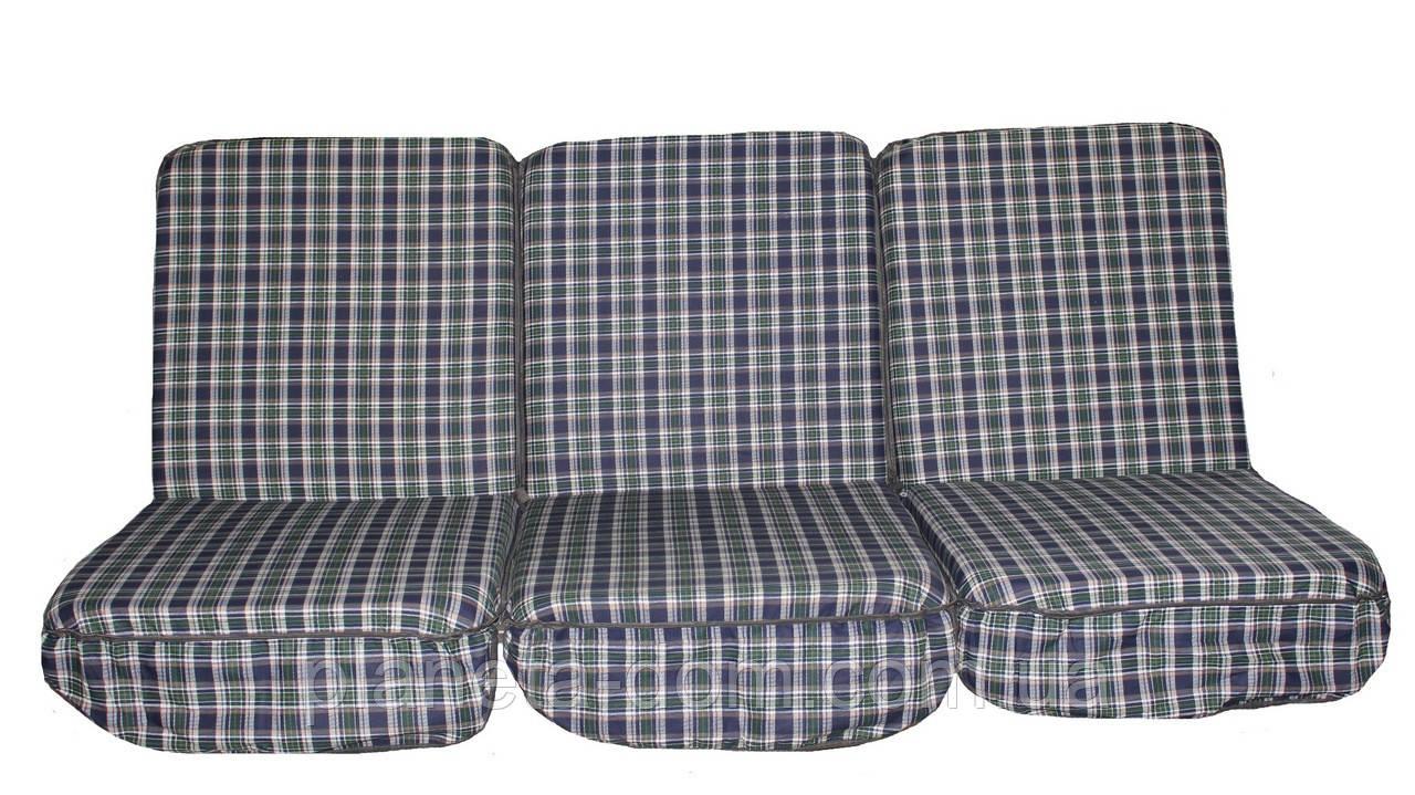 Комплект поролоновых подушек для садовой качели 168 см (043)