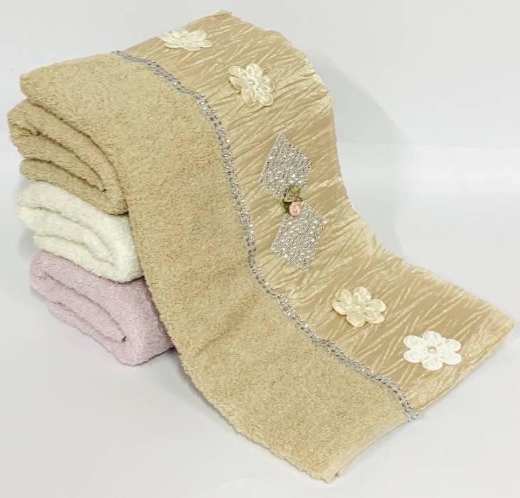 Полотенца Ромб со стразиками