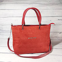 Женская замшевая сумка Mісhаеl Коrs, в стиле Майкл Корс MK, красная ( код: IBG193R1 ), фото 1