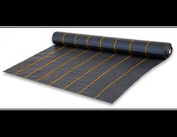 Агроткань от сорняков PP, черная UV, 90 гр/м² размер 0.4м*100м, агроткань для клубники