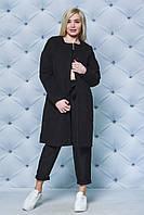 Черное кашемировое пальто 42-52 рр., фото 1