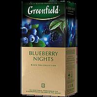 """Чай в пакетиках фруктовий Greenfield """"Blueberry Night"""" 25шт Чорниця"""