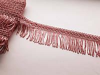 Бахрома декоративна шовкова, темно-рожева, фрез. 5см. БД 0101