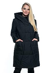 Демисезонная чёрная куртка с капюшоном