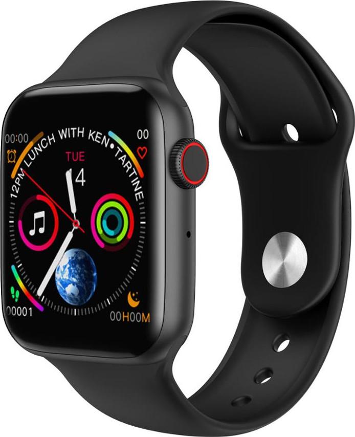 Розумні смарт годинник з функцією Antilost стильні IWO 10 Lite з сенсорним екраном чорні
