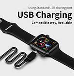 Розумні смарт годинник з функцією Antilost стильні IWO 10 Lite з сенсорним екраном чорні, фото 6